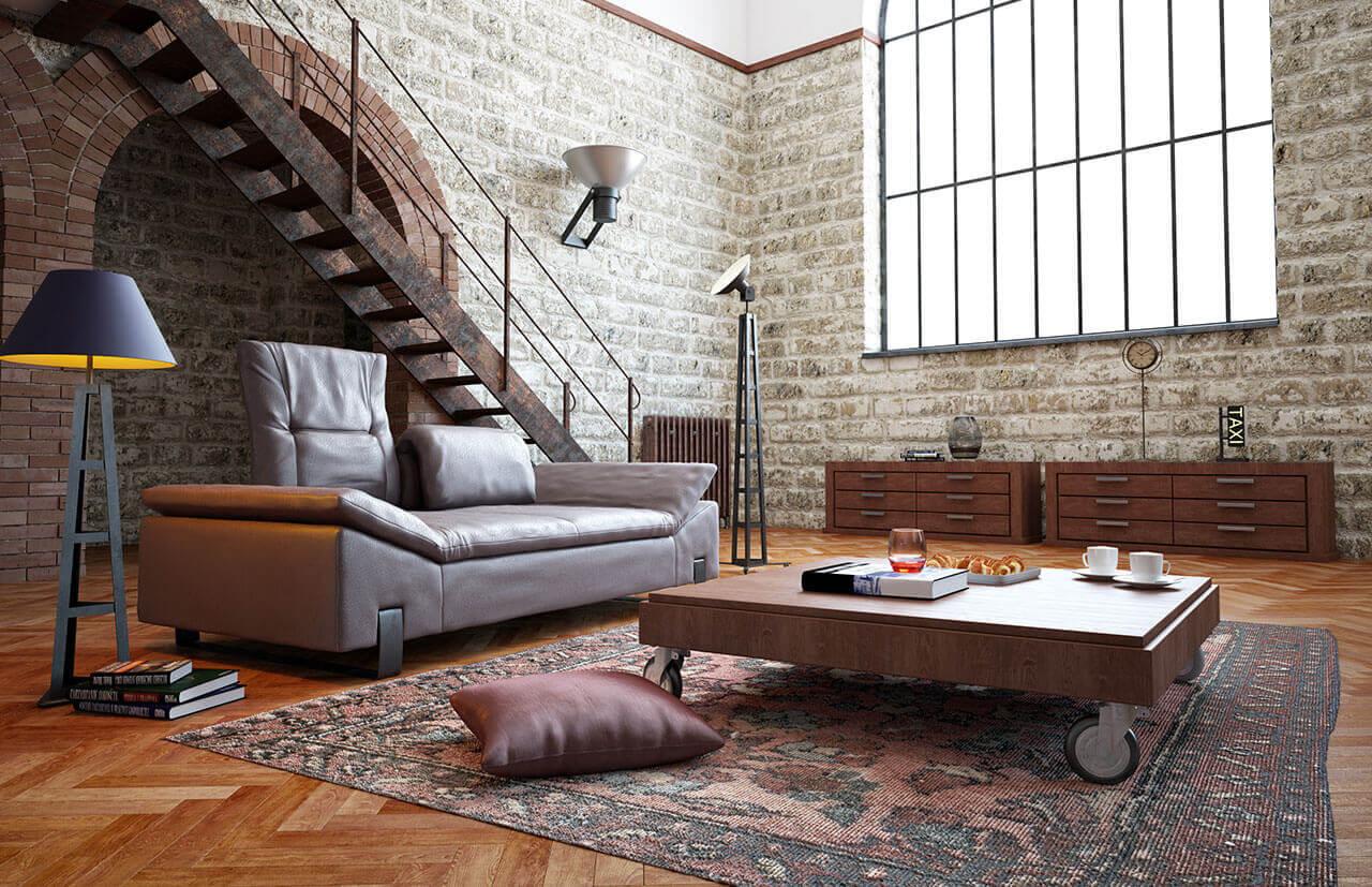 Мебель в стиле лофт История лофт-стиля и его особенности Лофт мебель и всё, что стоит знать о ней  Материалы для мебели в стиле лофт Использование мебели лофт в интерьере разных комнат