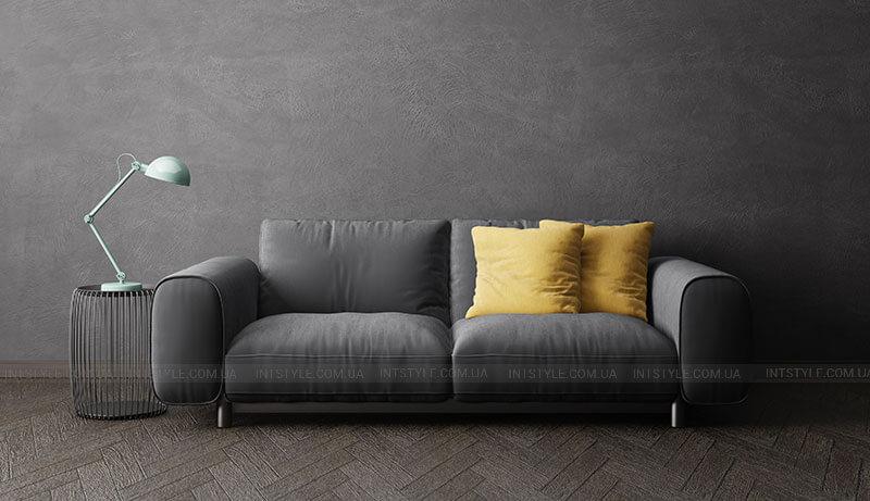 Черный диван желтые подушки. Как подобрать цвет дивану