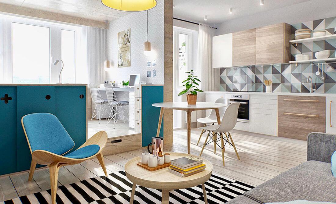 Скандинавский стиль. Простой и уютный интерьер. Мебель в скандинавском стиле.